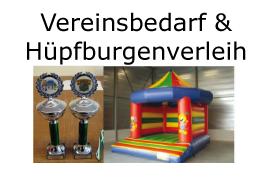 Vereinsbedarf & Hüpfburgenverleih